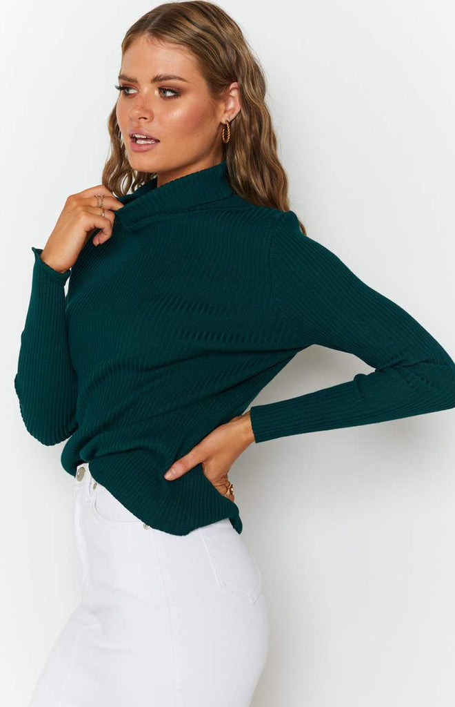 Home Central Turtle Neck Sweater Green 5