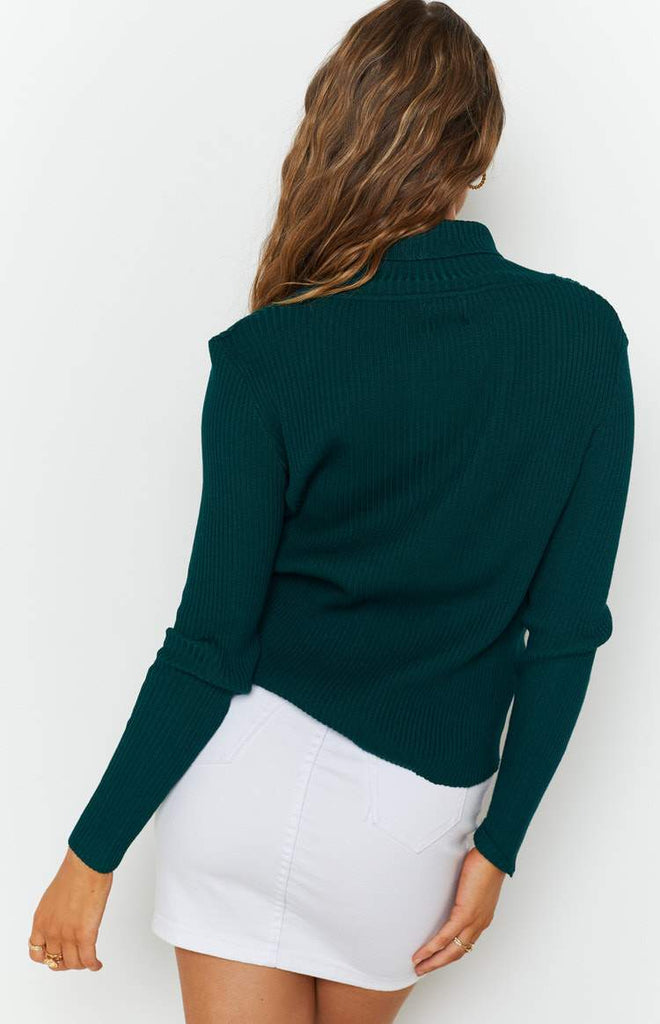 Home Central Turtle Neck Sweater Green 6