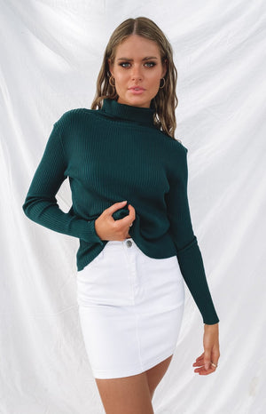 Home Central Turtle Neck Sweater Green