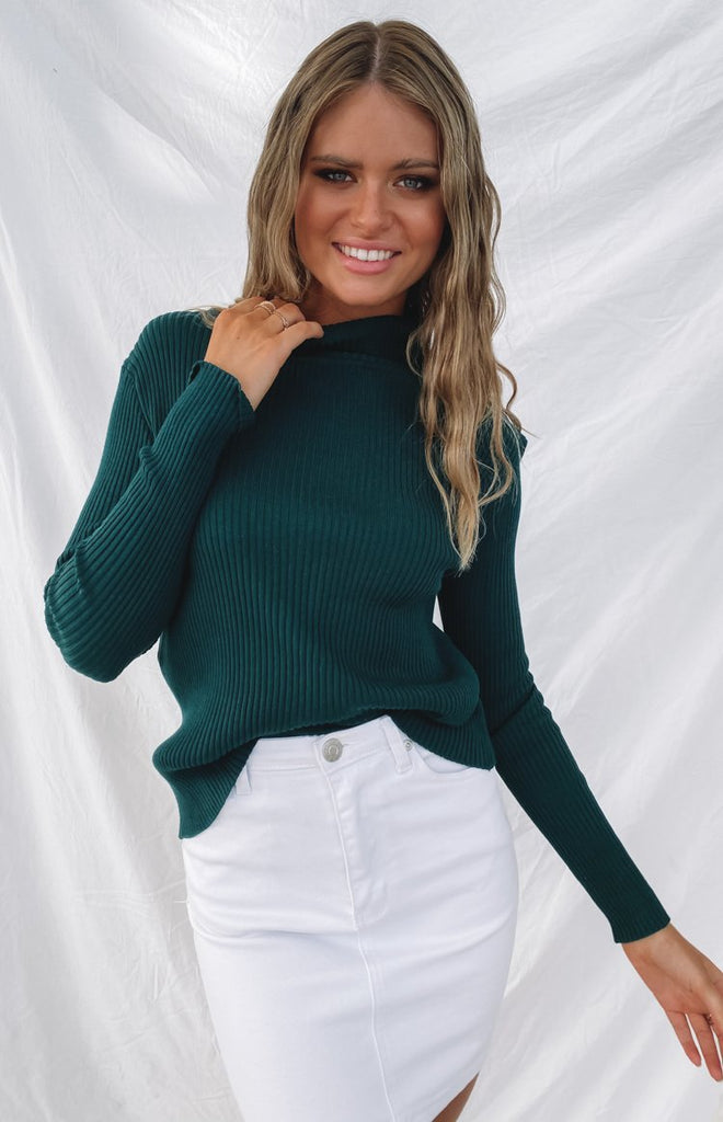 Home Central Turtle Neck Sweater Green 2