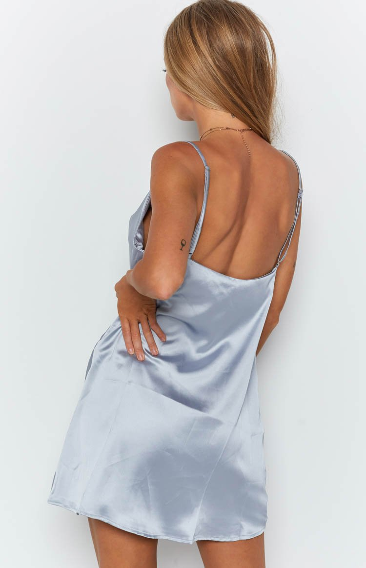 Honey Slip Dress Steel Blue