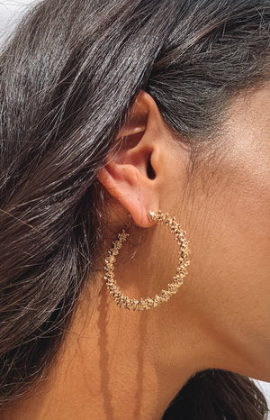 Eclat Falsetto Hoop Earrings Gold