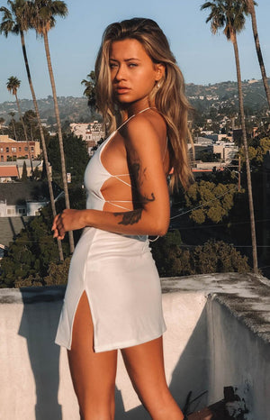 Delilah Mini Dress White