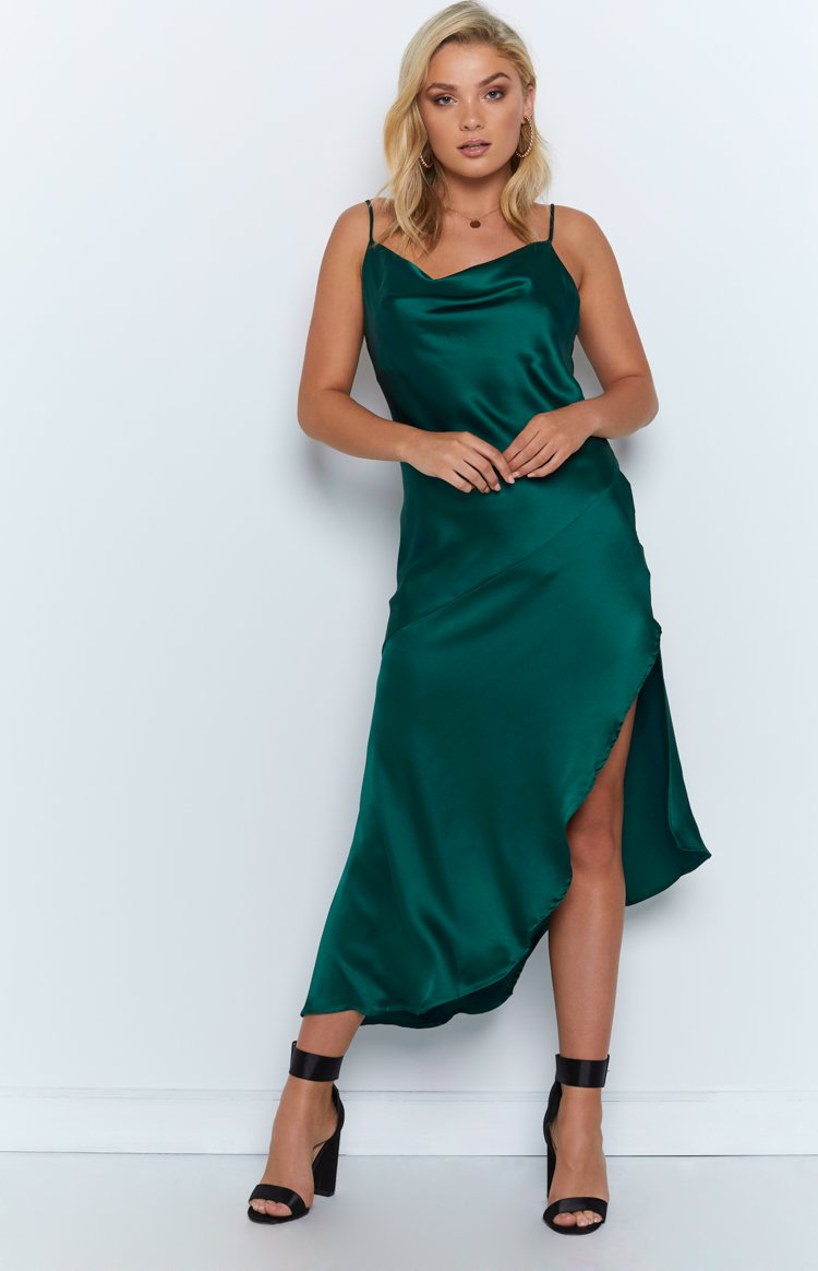 In Your Eyes Dress Emerald