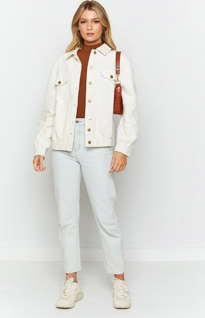 Jacey Cord Jacket White 4