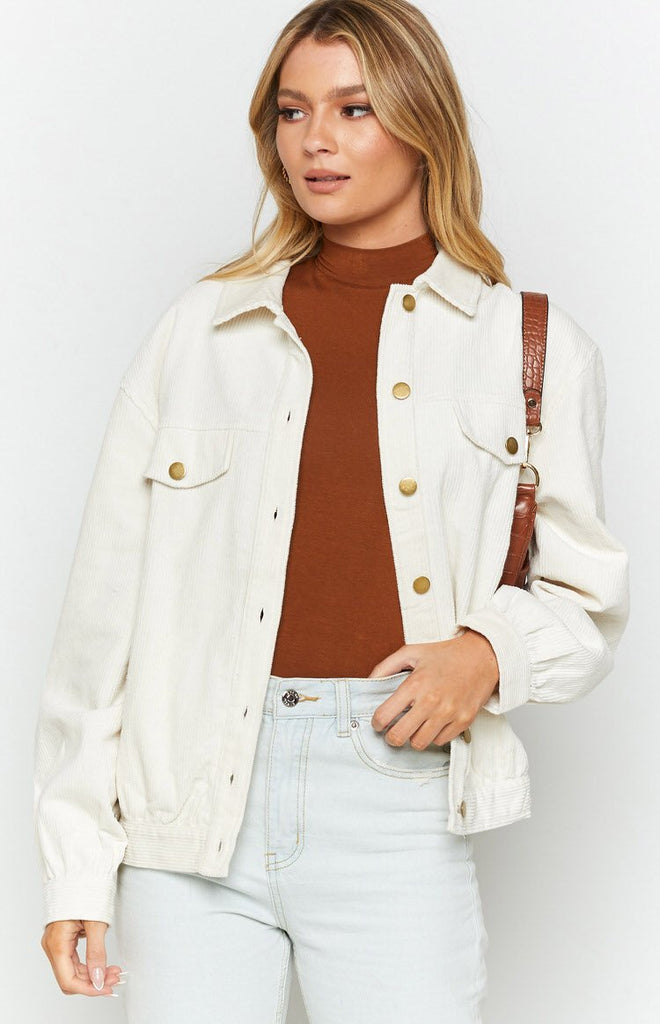 Jacey Cord Jacket White 5