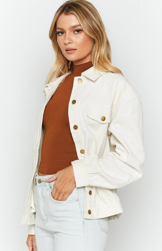 Jacey Cord Jacket White 6
