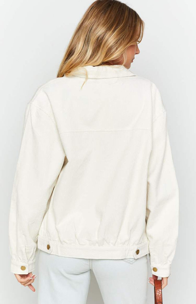 Jacey Cord Jacket White 7