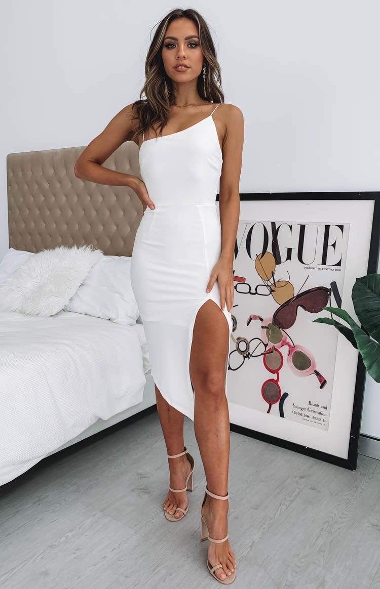 Beginning Boutique Joceline Midi Dress White