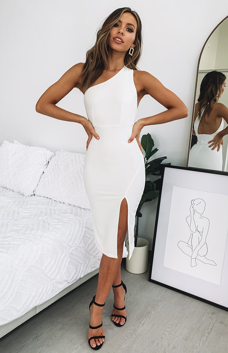 Kuyree Midi Dress White