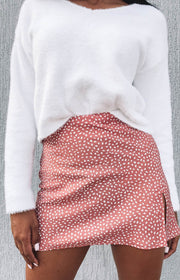 Laura Skirt Blush Print