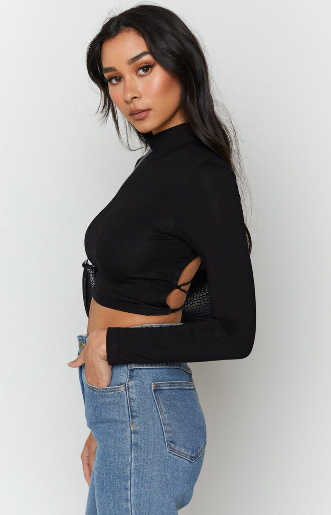 Lead The Way Long Sleeve Top Black 6