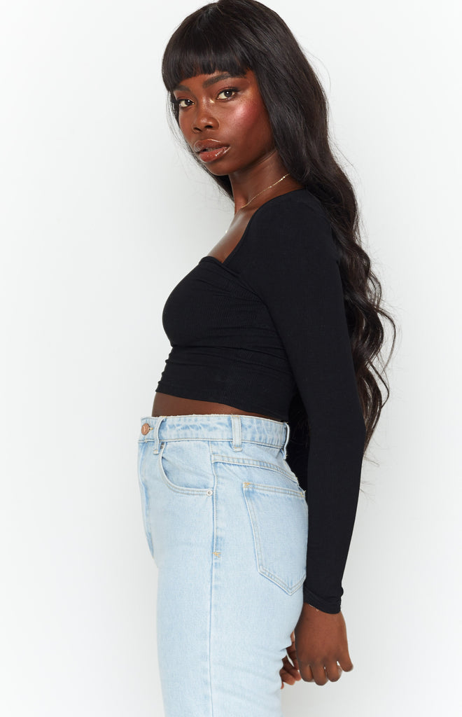 Clements Long Sleeve Top Black 1
