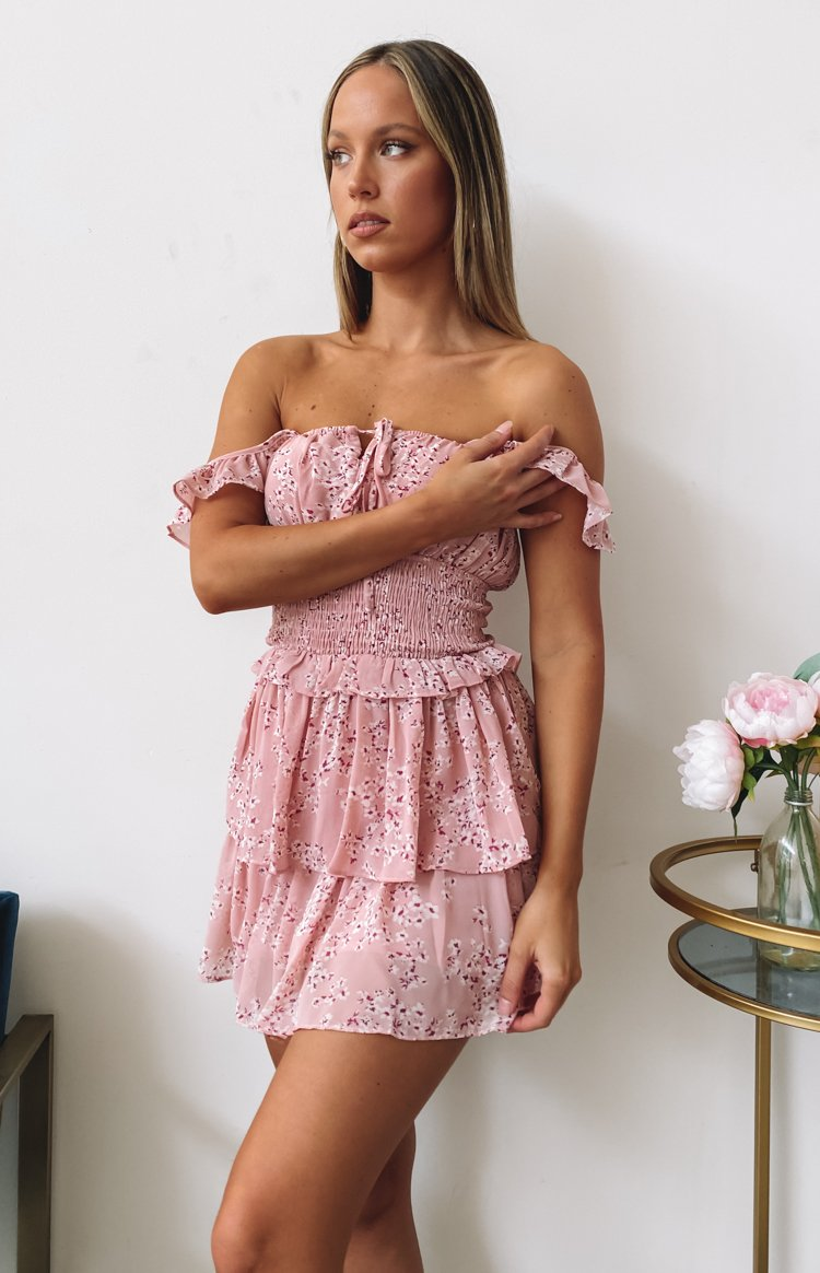 Love In Vain Dress Pink Floral
