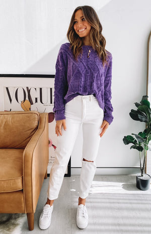 Mila Soft Jumper Purple