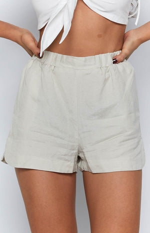 Natasha Linen Shorts Natural