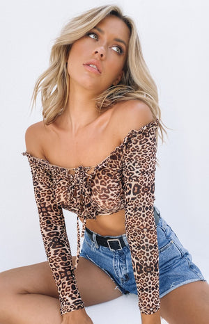 No Lies Crop Leopard