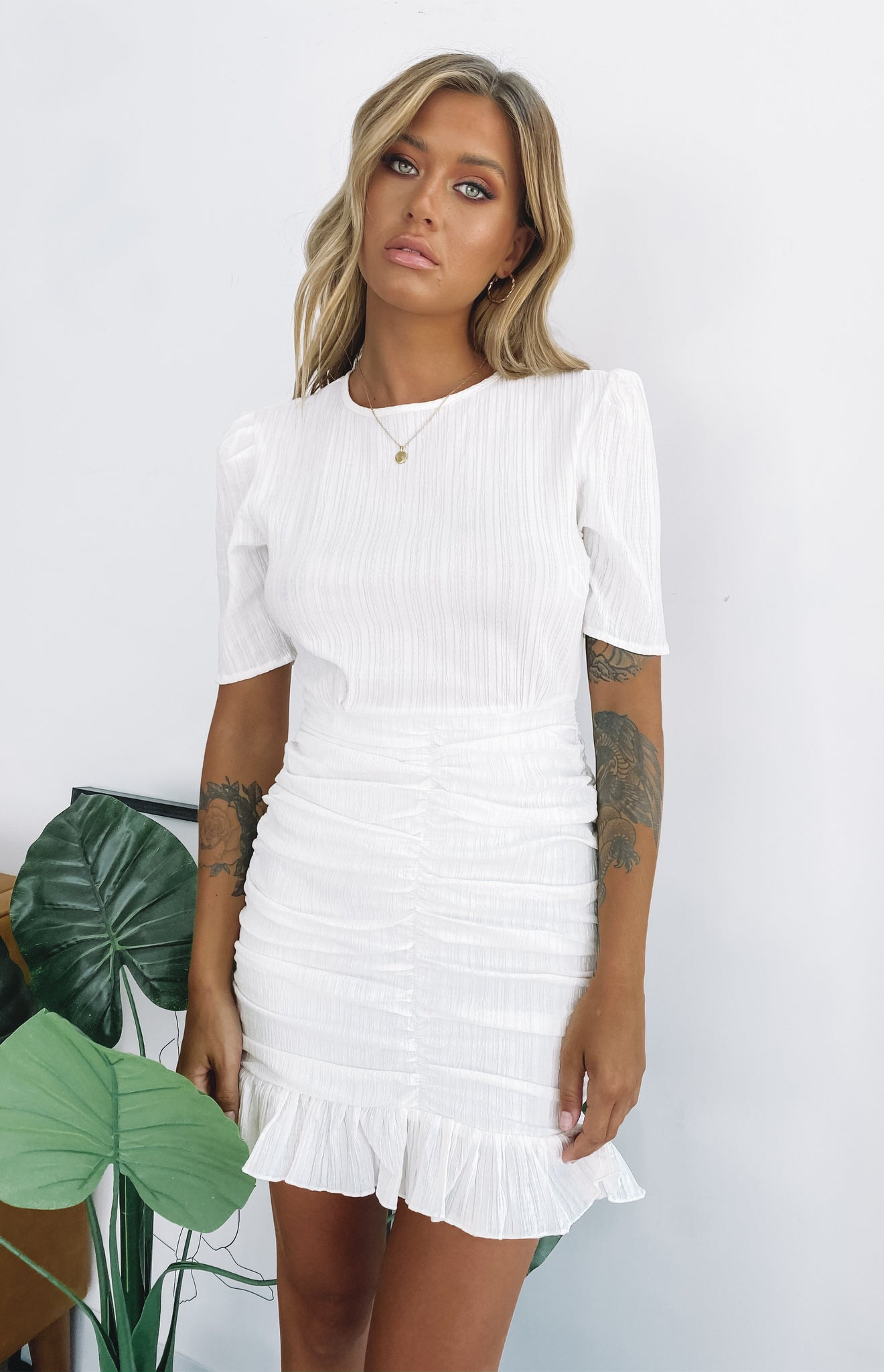 Lioness Out Of Love Mini Dress White