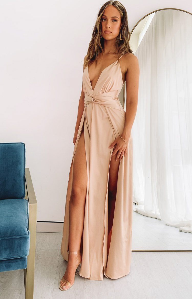 color-gold On Fire Dress Champagne