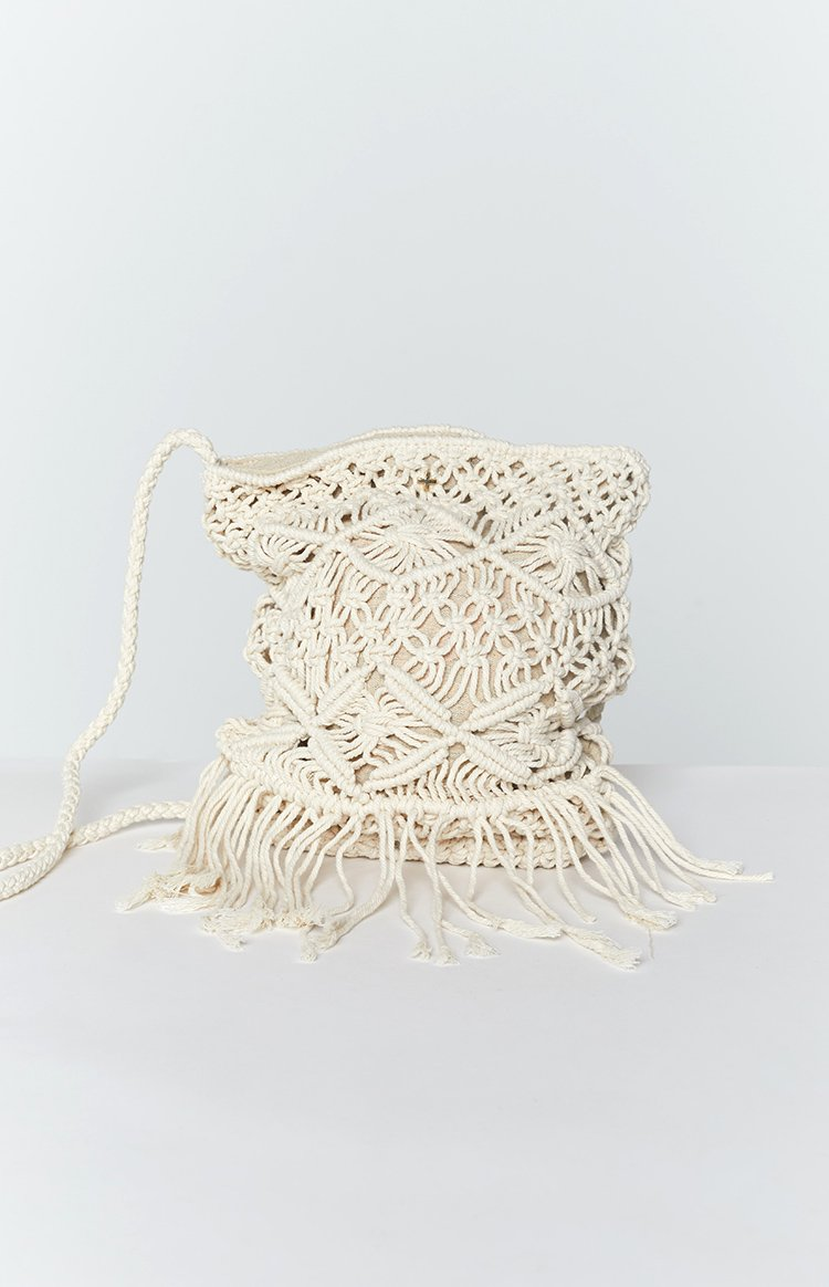 Peta & Jain Arielle Crochet Duffle Bag Natural