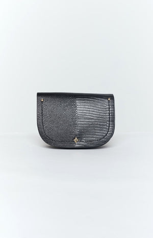 Peta and Jane Lexi Belt Bag Black Lizard