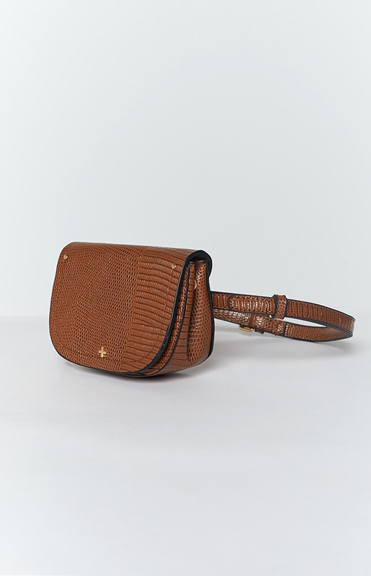 Peta & Jain Lexi Belt Bag Tan Lizard