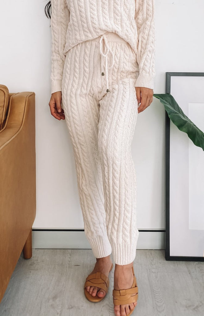 Queenstown Cable Knit Pants Cream 15
