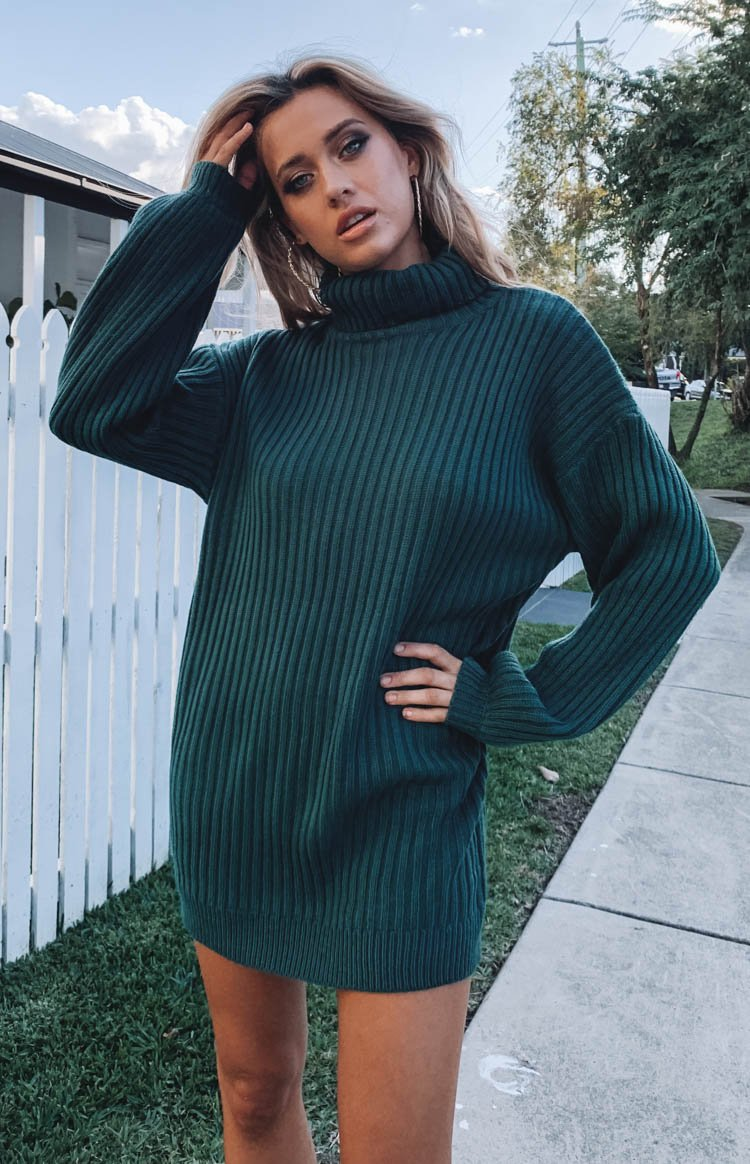 Lucilla Jumper Dress Teal