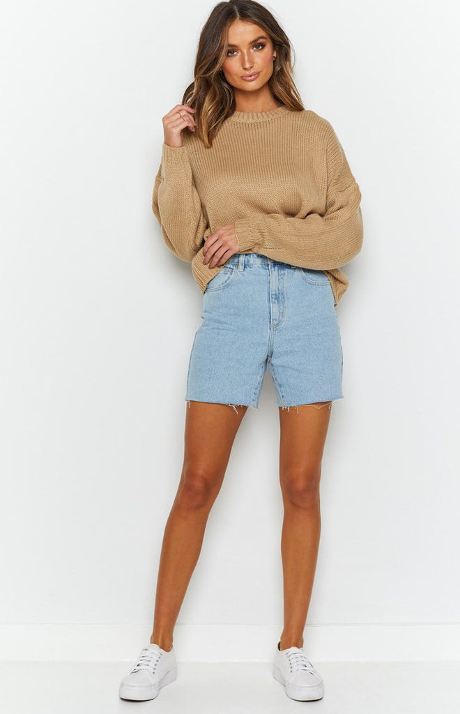 Recharge Knit Sweater Tan 5