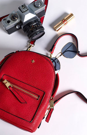 Peta & Jain Zoe Mini Back Pack Red Pebble