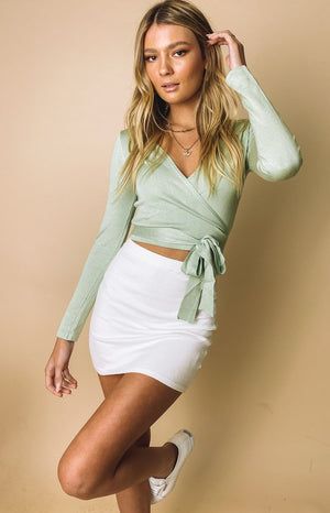Kennedy Knit Mini Skirt White