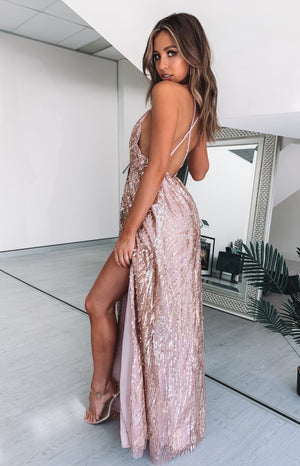 Romanced Formal Dress Rose Gold