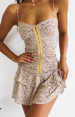 SNDYS Twin Flames Dress Beige Floral