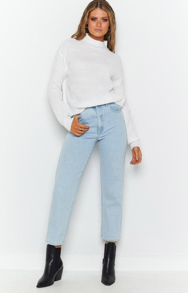 Secretly Knitted Sweater White 6