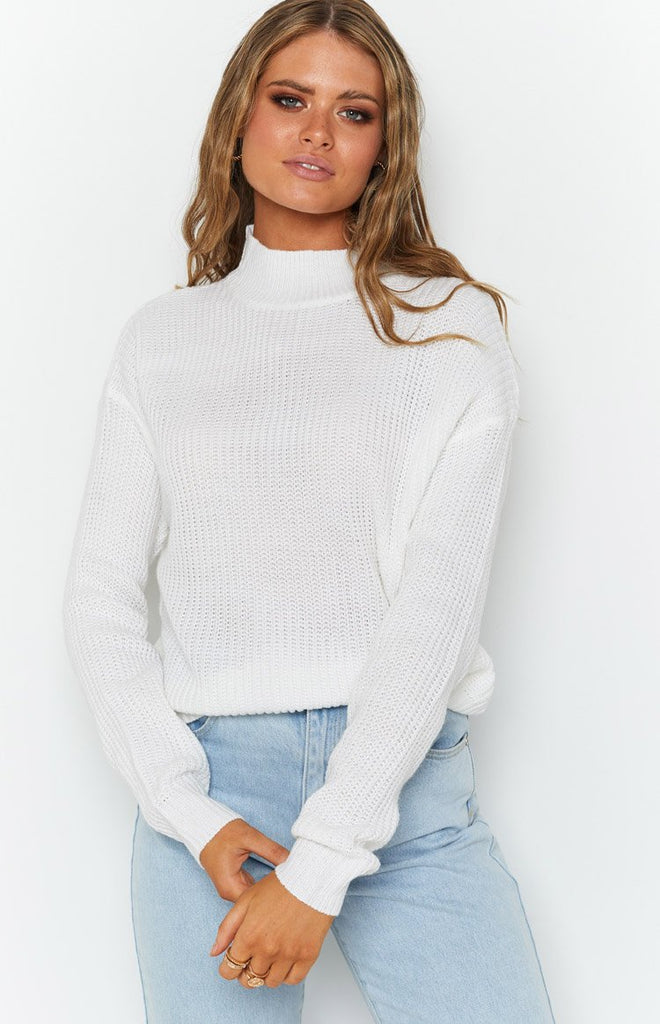 Secretly Knitted Sweater White 7