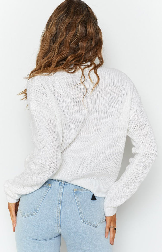 Secretly Knitted Sweater White 5