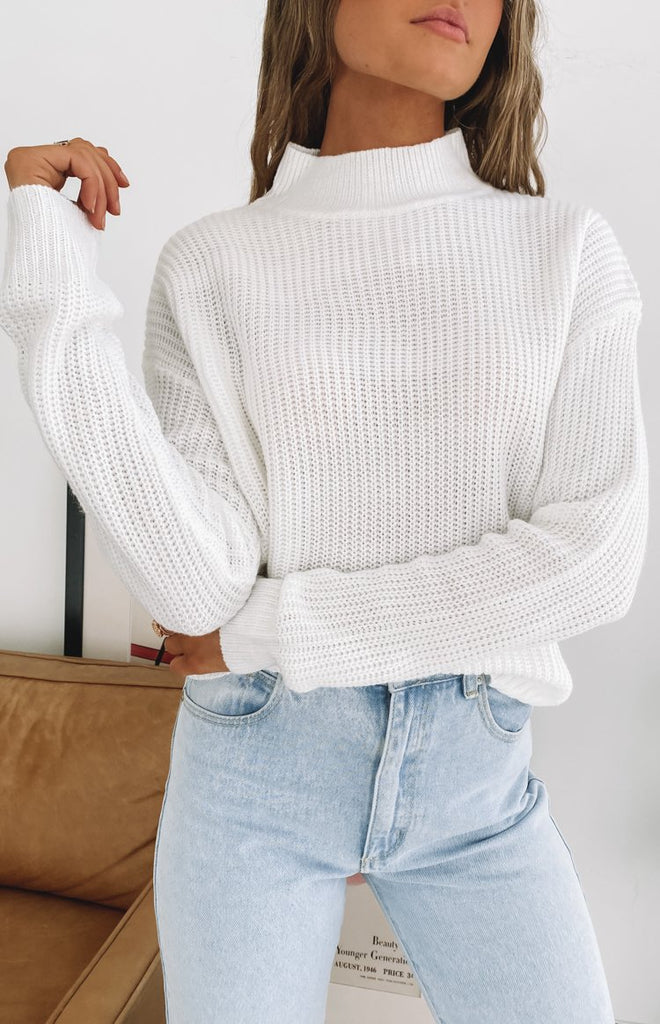 Secretly Knitted Sweater White 9