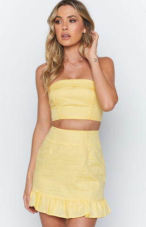 Spring Days Skirt Yellow