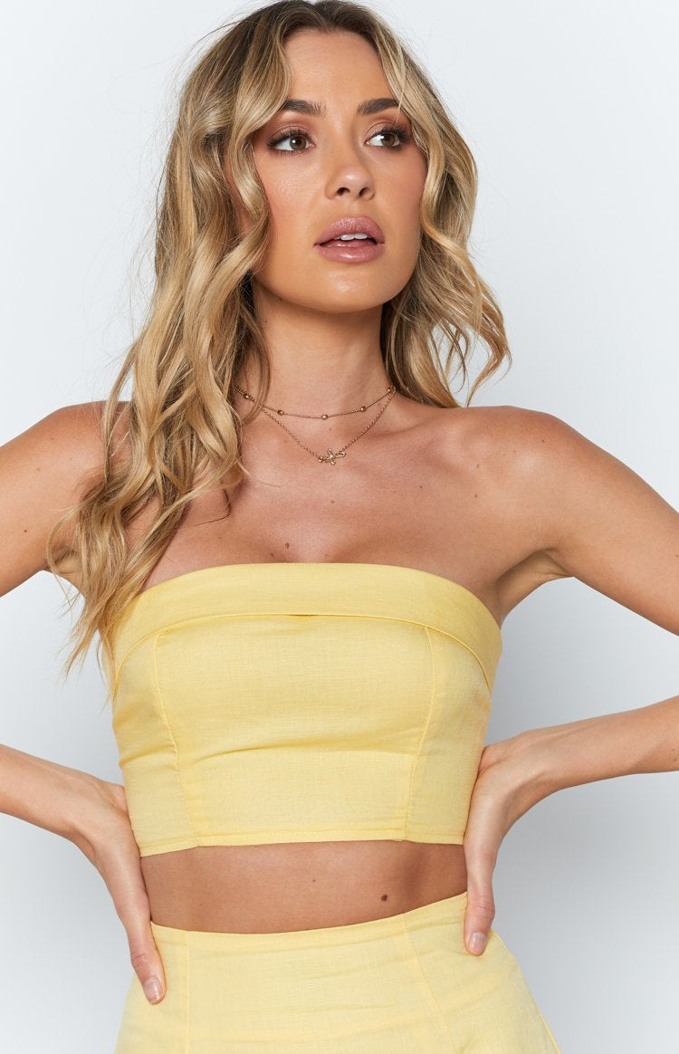 Springtime Crop Top Yellow