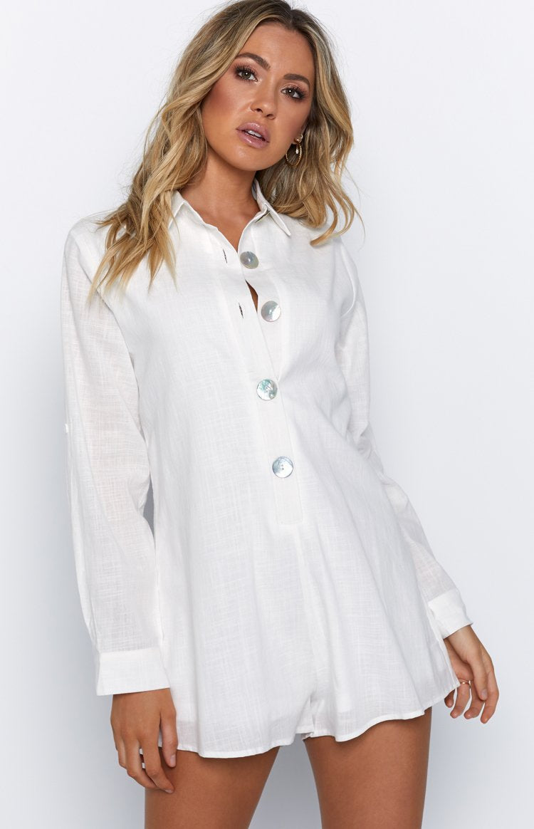 Summer Lover Playsuit White