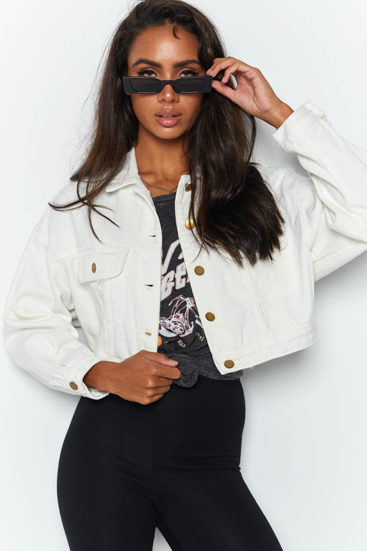 Sweet But Psycho Jacket White
