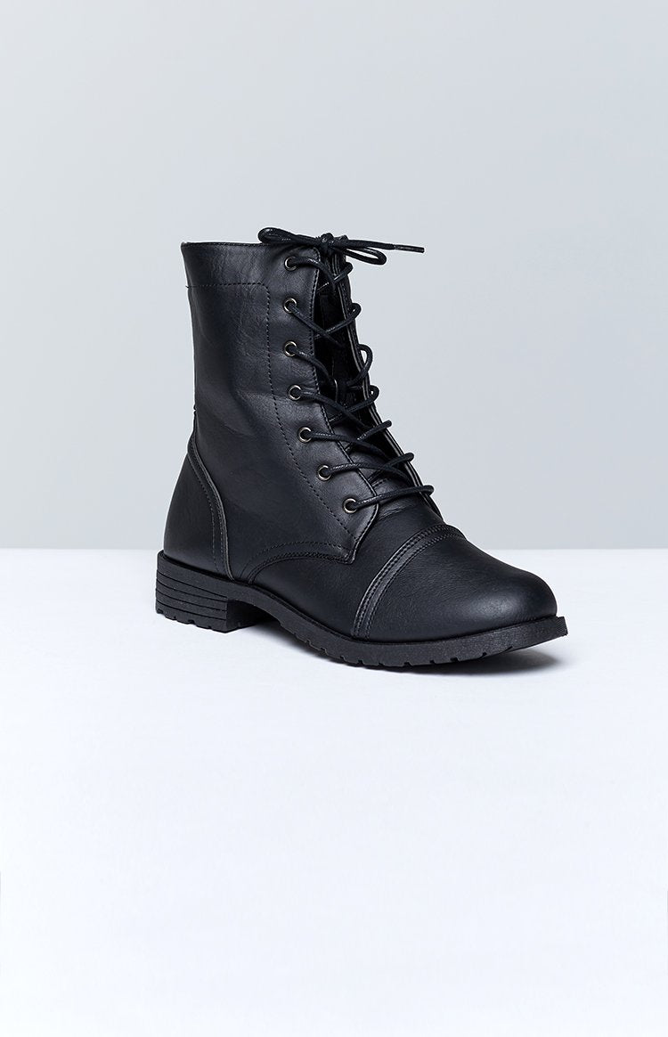 Tasha Lace Up Boots Black