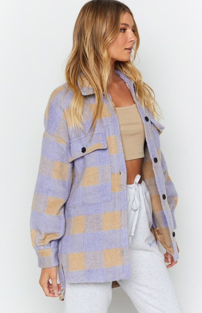 Tell All Oversized Jacket Purple 7