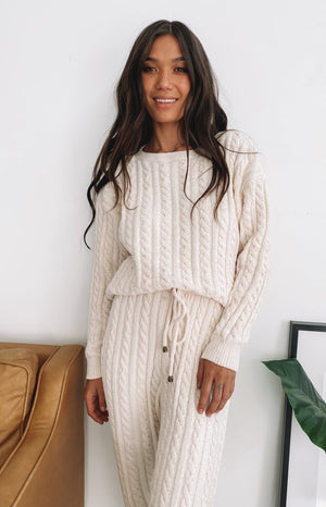 The Alps Cable Knit Jumper Cream