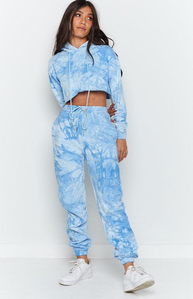 The Creator Track Pants Blue Tie Dye 4