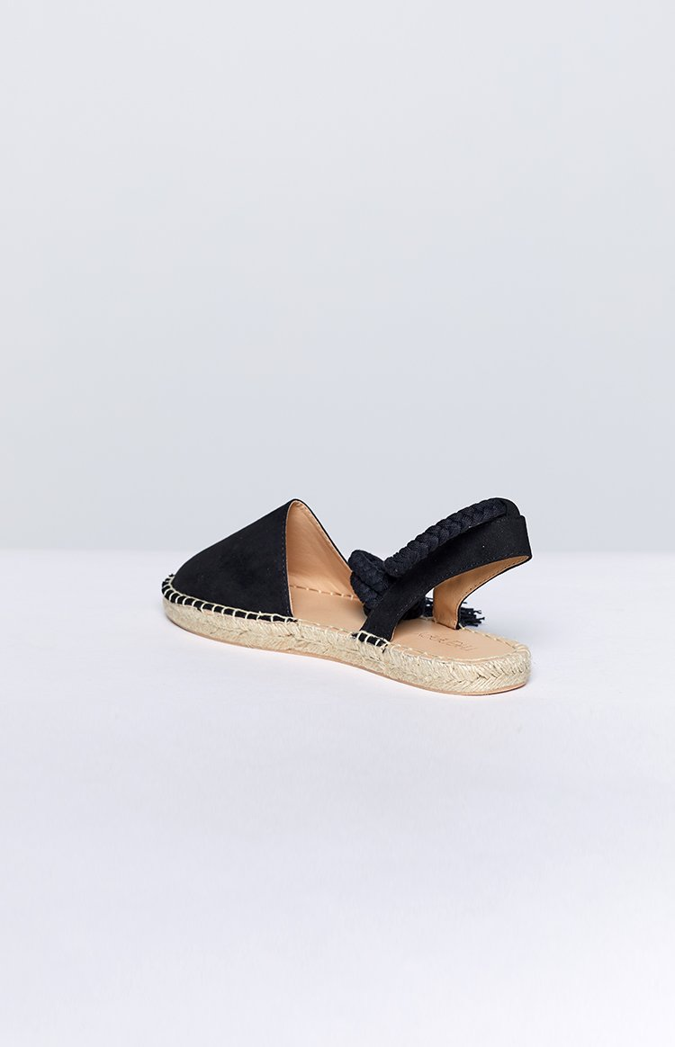 Therapy Epernay Espadrille Black Suede