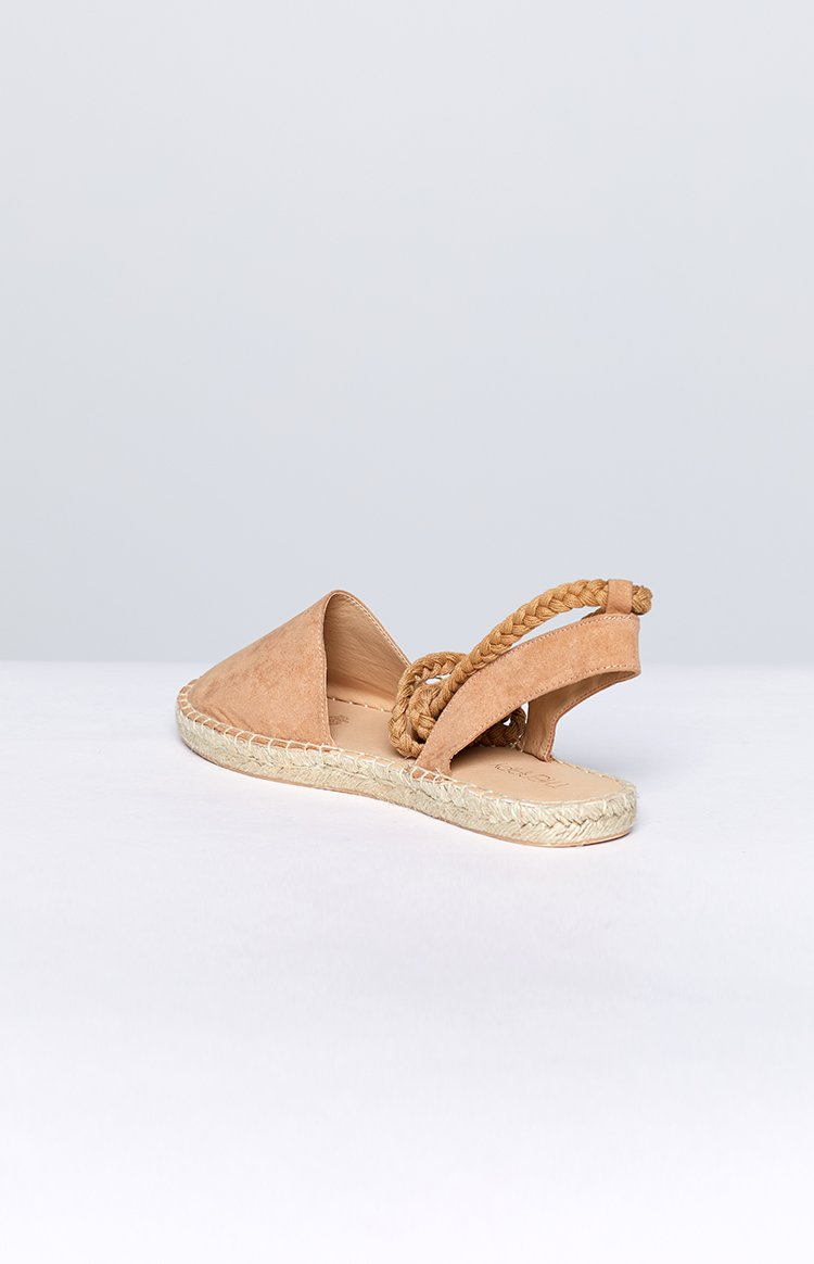 Therapy Epernay Espadrille Camel Suede