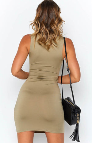 Upon The Waves Dress Khaki