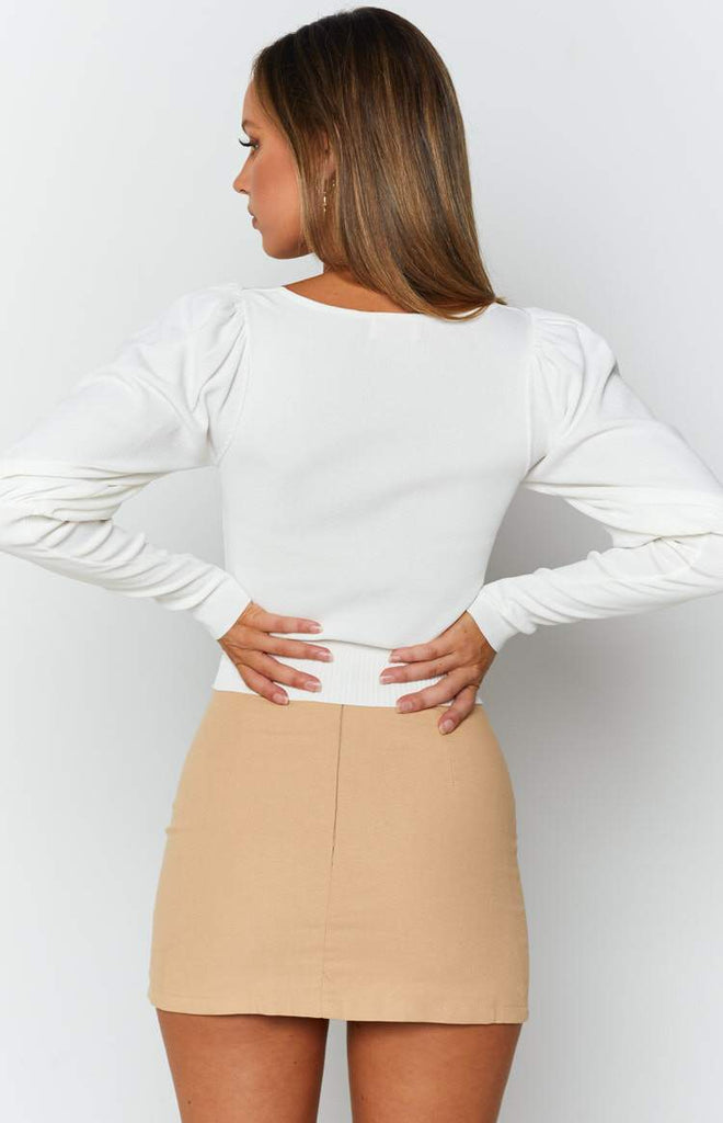 Violet Swire Long Sleeve Knit White 7