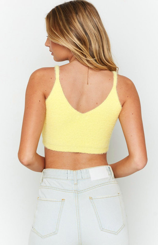 Vow To Ruched Crop Top Yellow 7